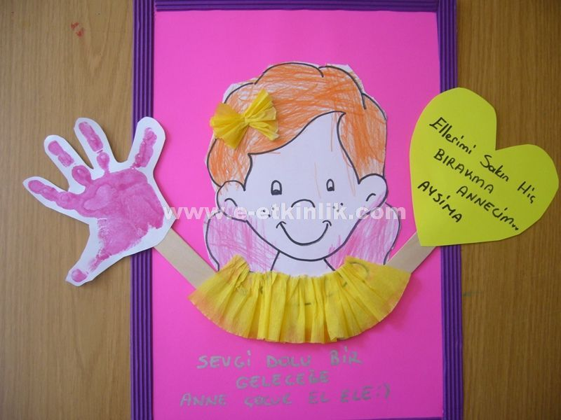 Anneler g n etkinlikleri okul ncesi preschool crafts for Mother s day projects for kindergarten