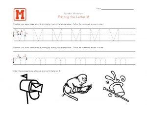 printable letter m worksheets
