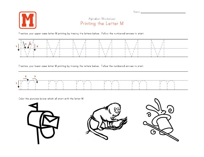 Common Worksheets Printable Letter M Worksheets Preschool and – Letter M Worksheets