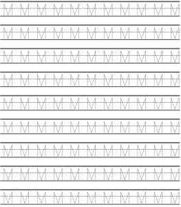 uppercase letter m worksheets