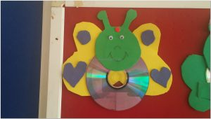 cd crafts butterfly