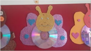 cd crafts for butterfly