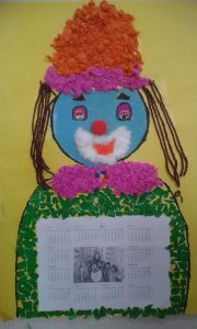 clown calender crafts