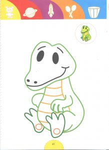 crocs-tale heroes coloring pages for kids