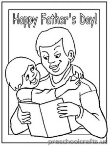 father's day coloring pages for preschool
