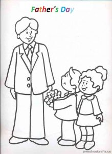father's day coloring pages for preschooler