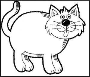 free cat coloring pages for kids