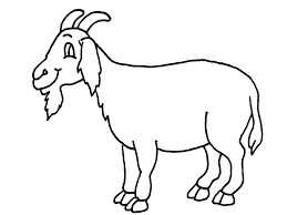 free printable Goat Coloring Pages for pre-school