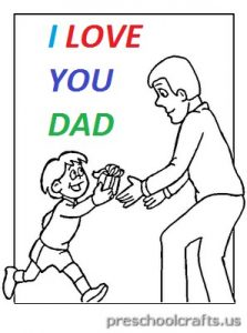 free printable world father's day for preschool