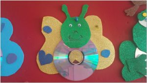funny cd crafts butterfly