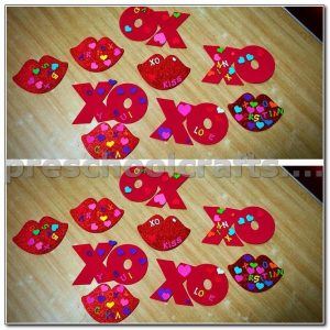 letter x and letter o crafts