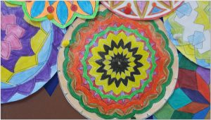 mandala bulletin board art activity for kindergarten