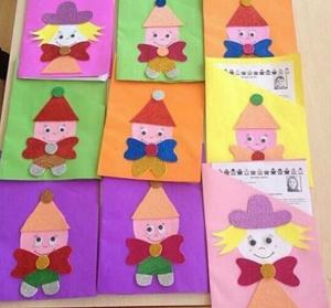 preschool report cover crafts idea