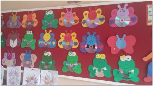 simple cd crafts bulletin board ideas