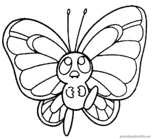 Free Printable Animals Butterfly Coloring Pages For Children