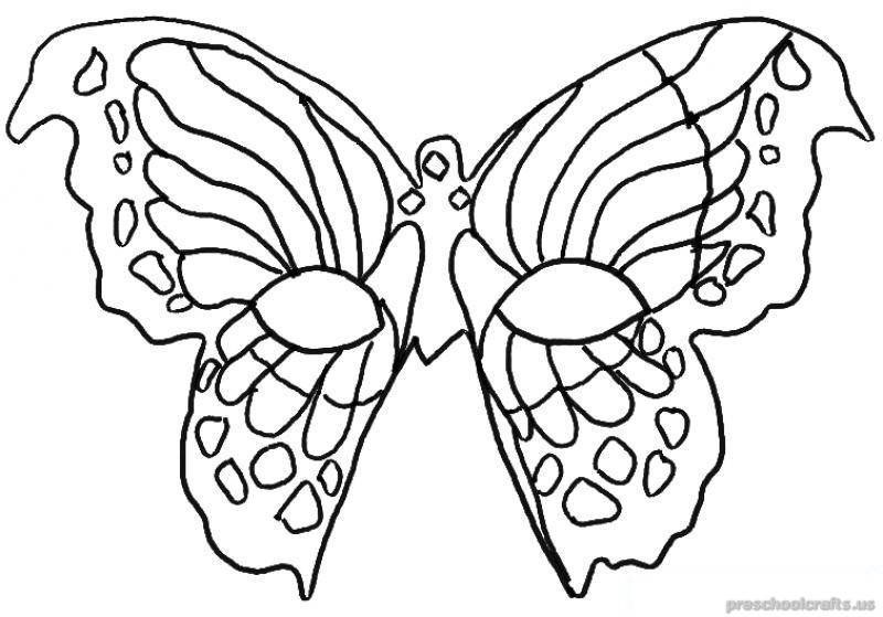 Freeprintable animals butterfly coloring pages for first grade