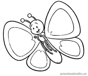 Free–printable-animals-butterfly-coloring-pages-for-kid