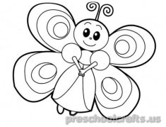 Free–printable-animals-butterfly-coloring pages-for-kids