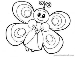 freeprintable animals butterfly coloring pages for kids