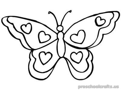 Freeprintable animals butterfly coloring pages for toddler