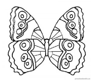 butterfly colouring page