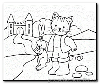 cat and rabbit coloring page - Rabbit Coloring Page