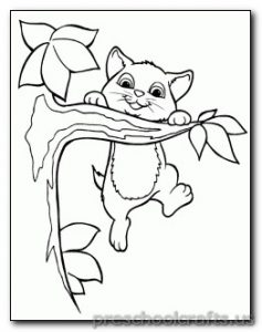 cat coloring pages for-kids