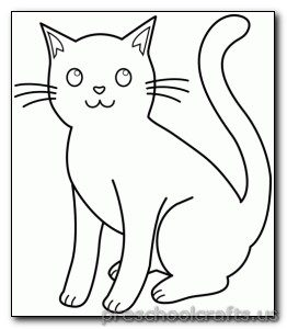 Kitten Coloring Pages Preschool and Kindergarten