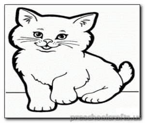 kitten-coloring pages