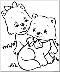 kitten coloring pages for-kids
