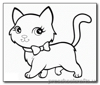 Kitten Coloring Pages Preschool