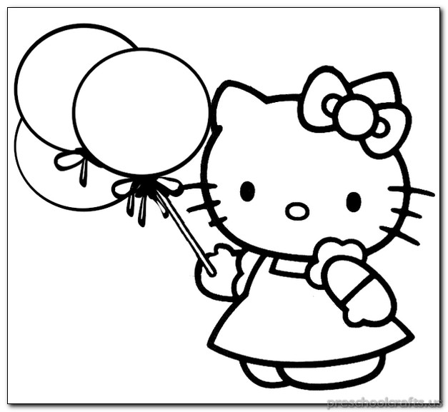kitten coloring pages for kids - Kitten Coloring Pages
