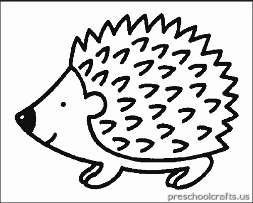 free printable hedgehog coloring page for child Preschool Crafts