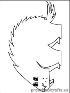 free printable hedgehog coloring pages for preschoolers