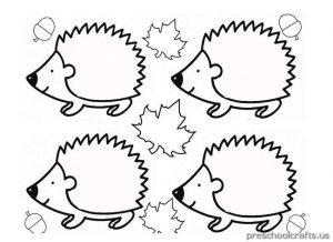 hedgehog coloring pages for kindergarten