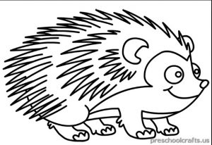printable hedgehog coloring pages for kids - Hedgehog Coloring Pages Printable