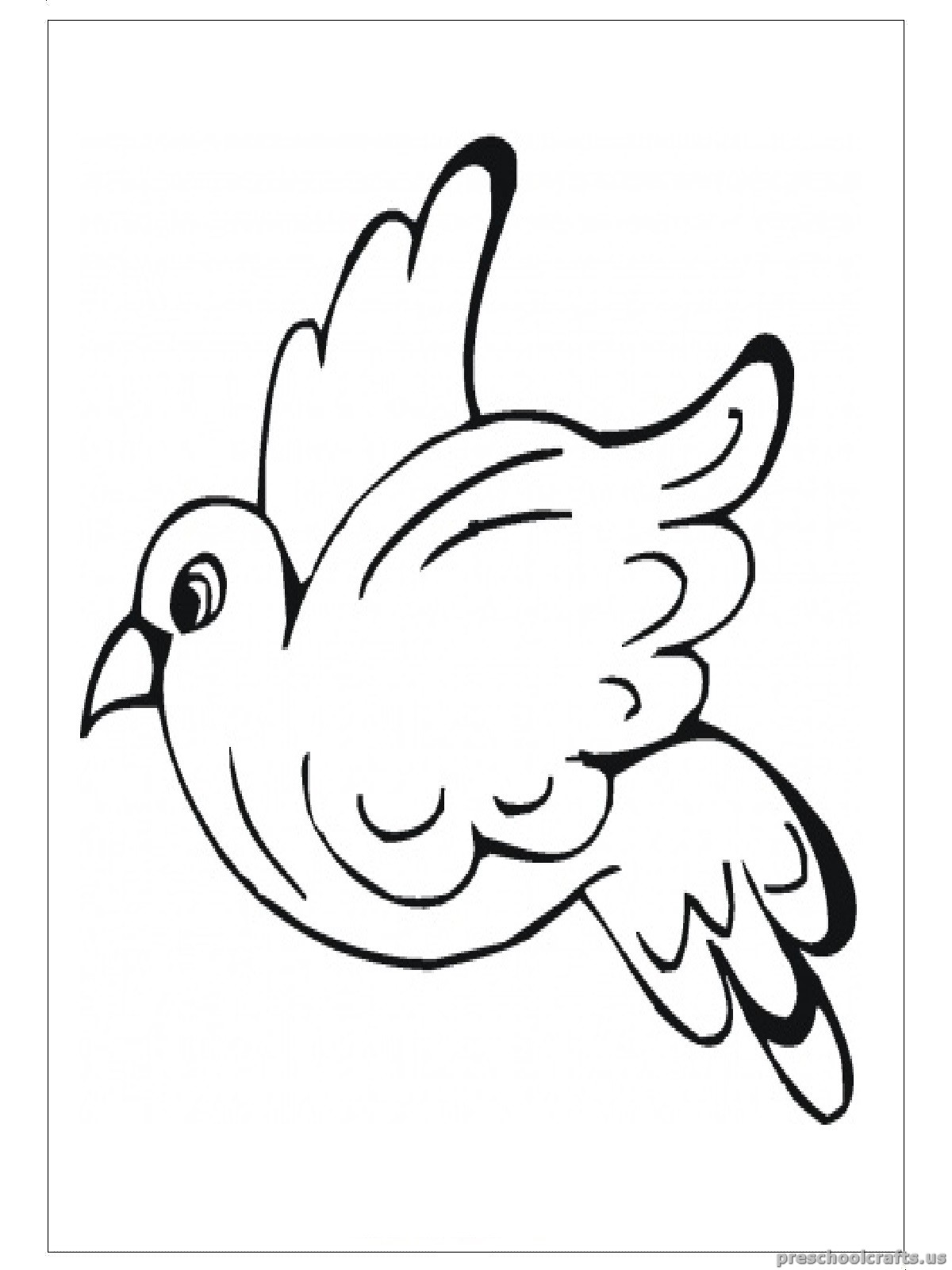 swallow animals coloring pages for preschool - Preschool Animal Coloring Pages