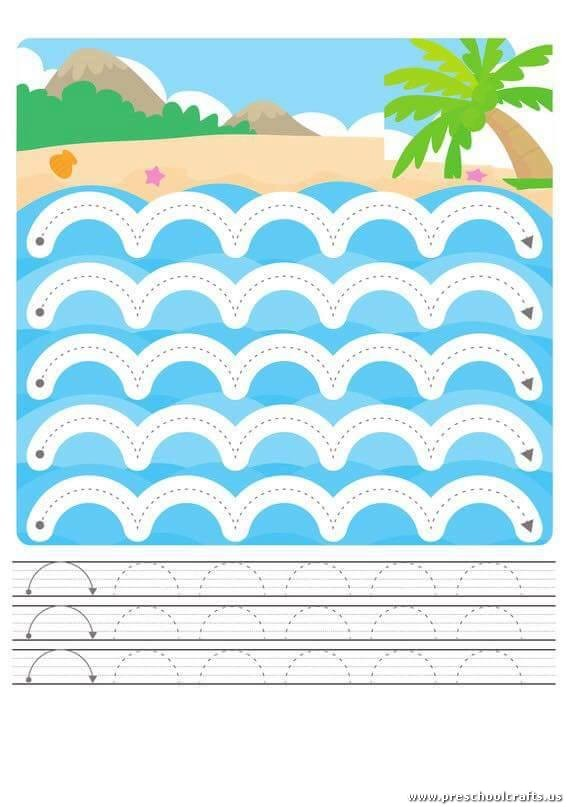 Trace the Dotted Lines Worksheets for Kids - Preschool and Kindergarten