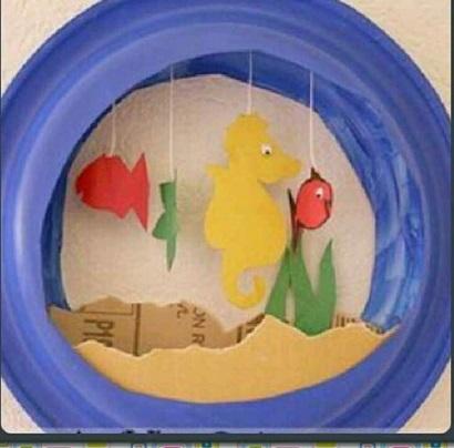 Fish Aquarium Crafts for Kids - Preschool and Kindergarten
