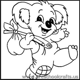Free Printable Koala Coloring Pages For Kindergarten