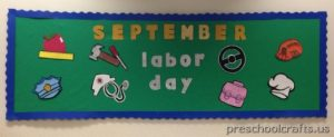 labor day bulletin board idea for kids