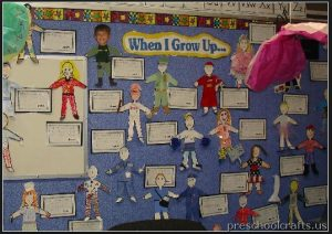 labor day bulletin board idea for kinder