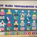 labor day bulletin board idea for kindergarden