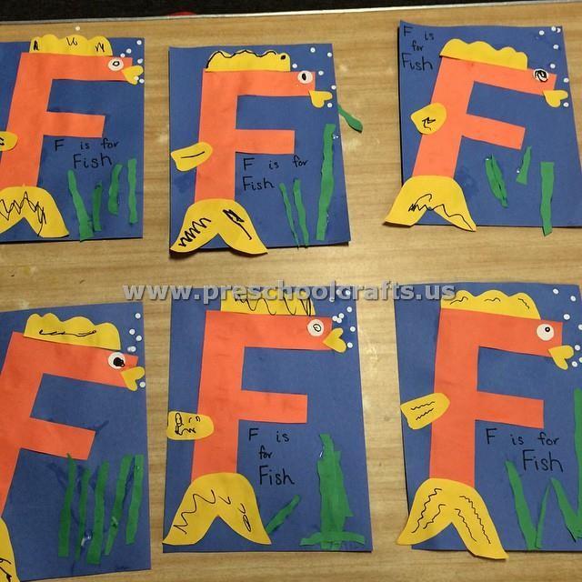 Letter f crafts for kindergarten preschool crafts for F crafts for toddlers