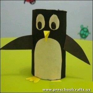 penquin-craft-idea-with-toilet-rolls