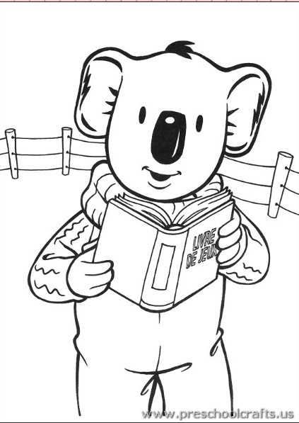 Printable Koala Coloring Pages For Toddler