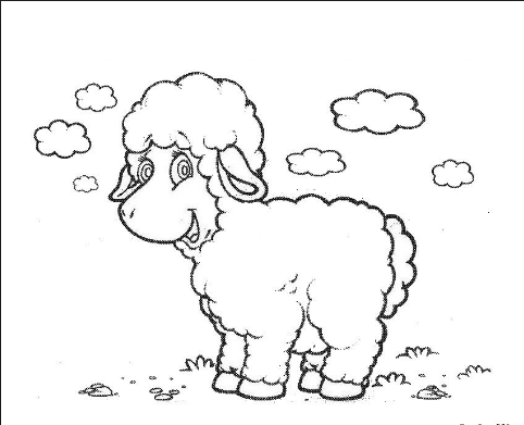 Sheep coloring pages for kids free printable colouring for Sheep coloring page