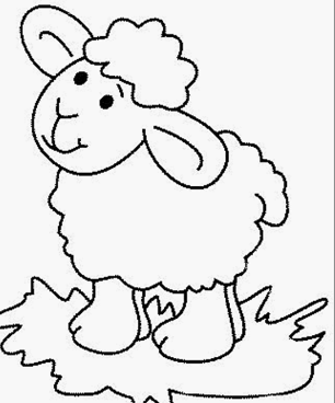 sheep coloring pages for preschool coloring page for kids - Sheep Coloring Page
