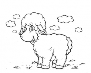 sheep coloring pages for preschool free printable colouring
