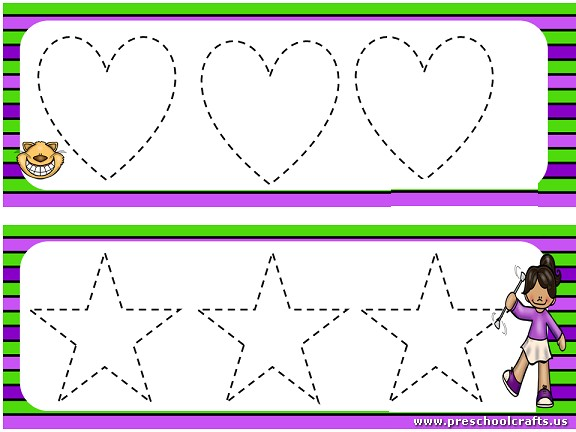 Trace The Dotted Lines Worksheets For Kids